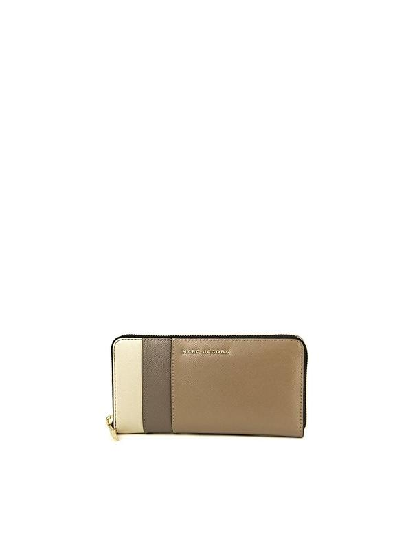 Cartera Marc Jacobs marrón beige Standard Continental