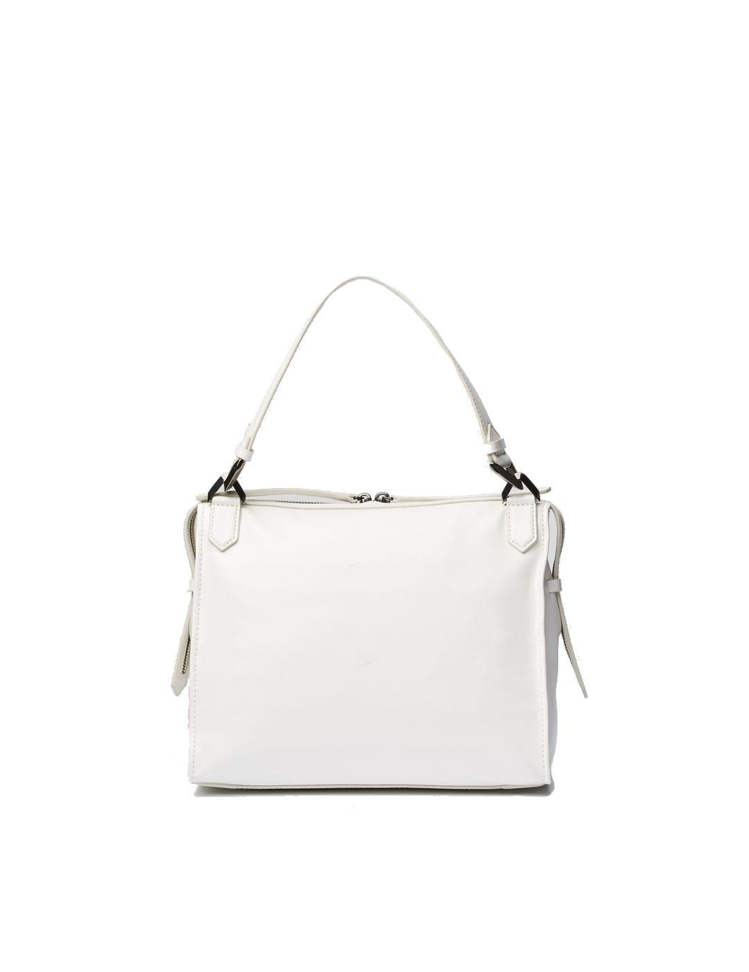 Bolso Karl Lagerfeld blanco Slash Top Handle