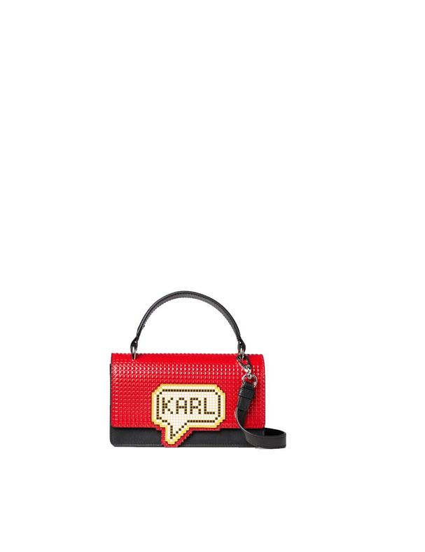 Bolso Karl Lagerfeld negro K/pixel Small Top Handle