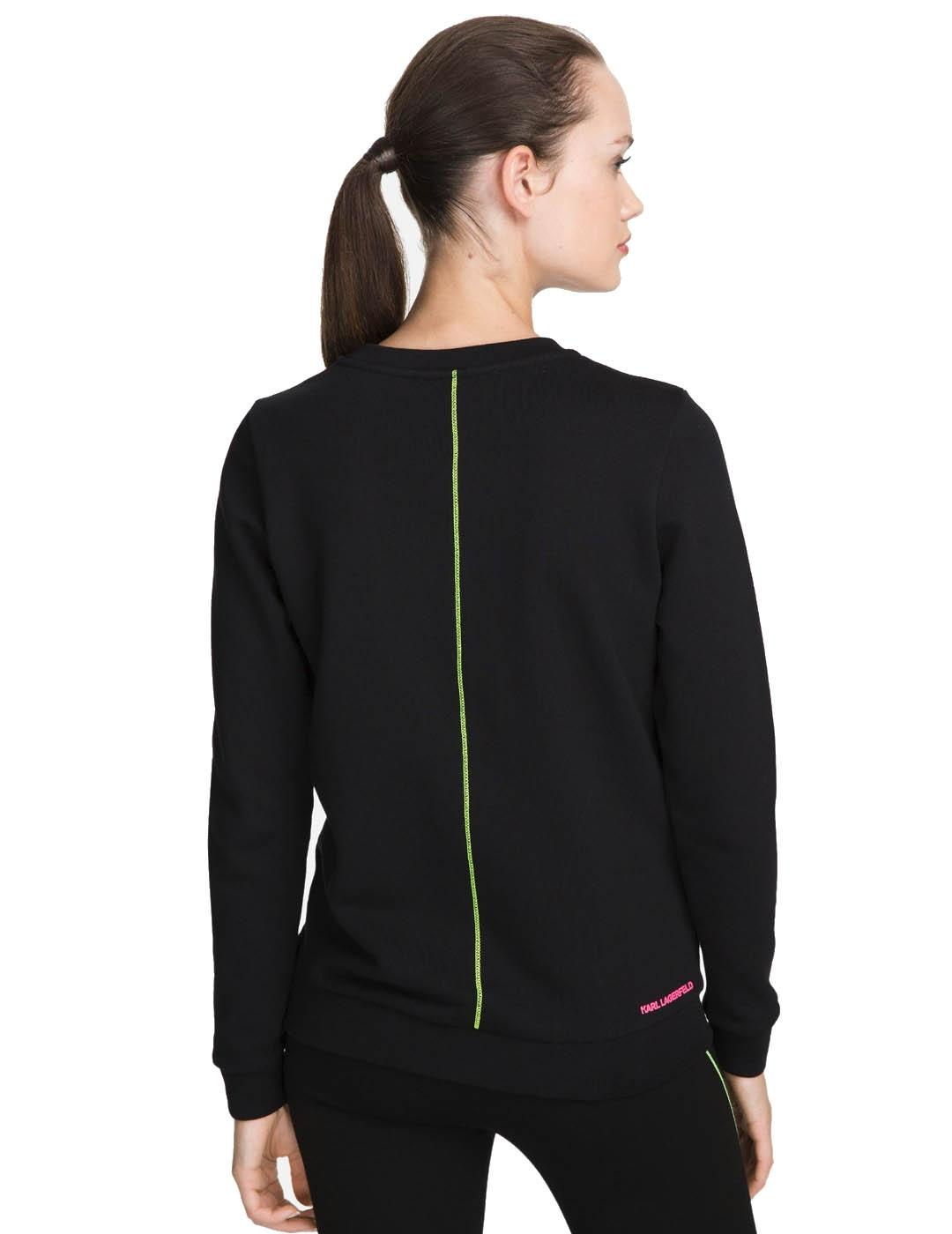 Sudadera Karl Lagerfeld negra Neon Lights Sweat