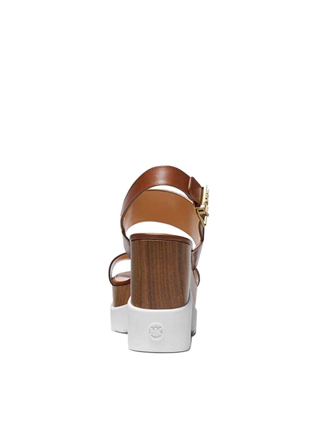 Sandalias Michael Kors marrones de cuña Rhett Wedge