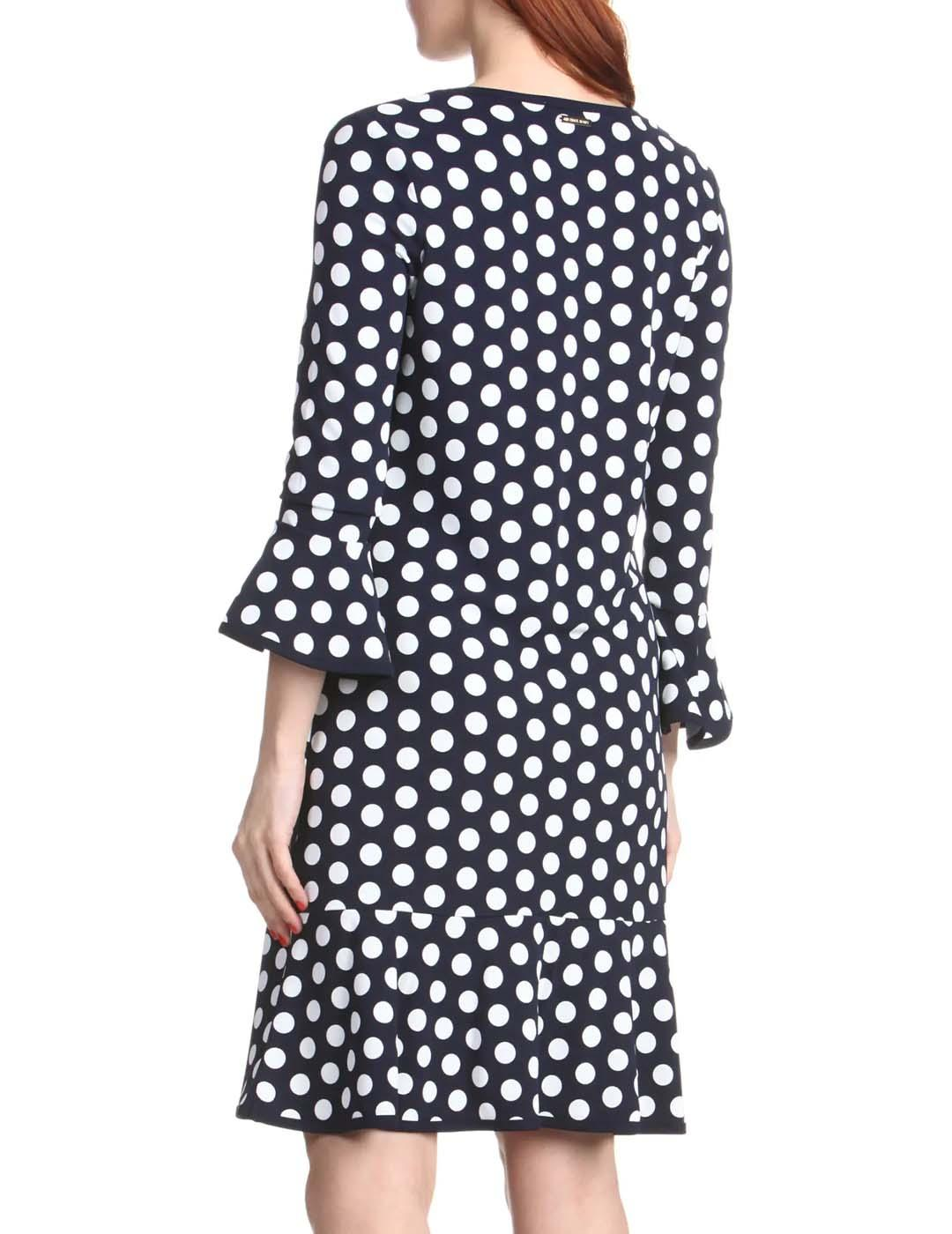Vestido Michael Kors azul Dress with polka dots
