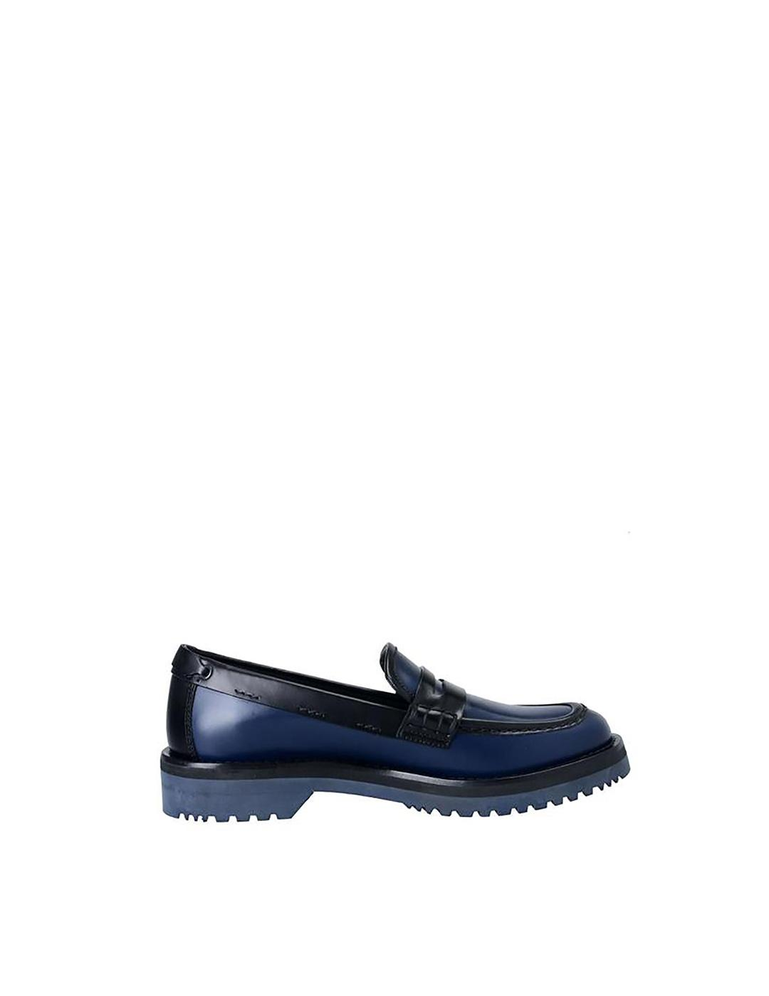 Mocasines Car Shoe azul negro