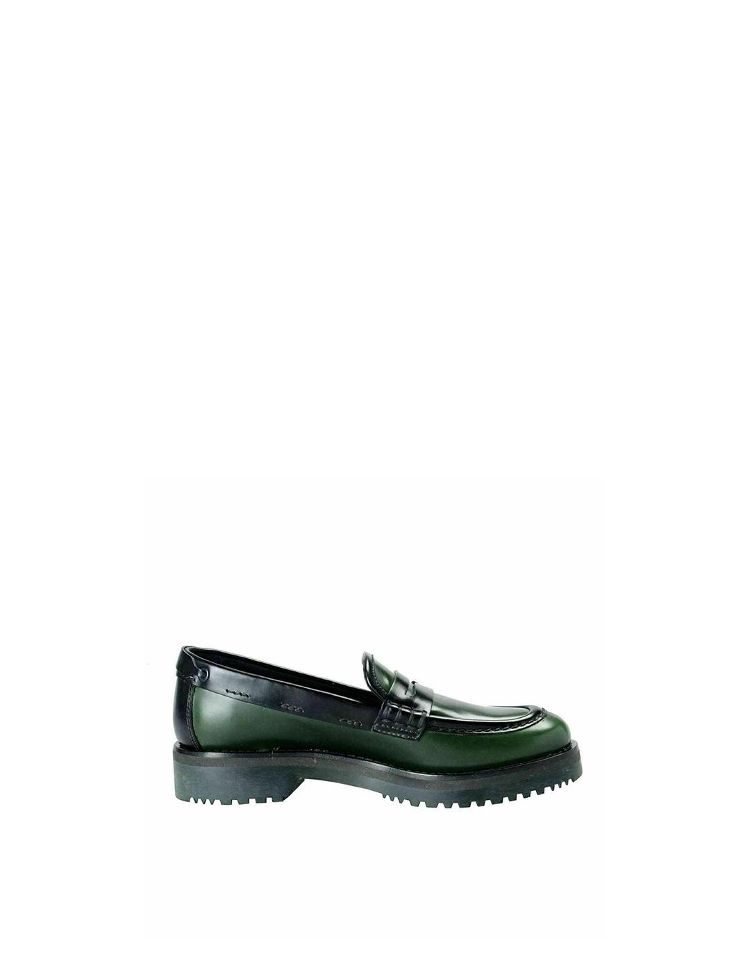 Mocasines Car Shoe verde negro