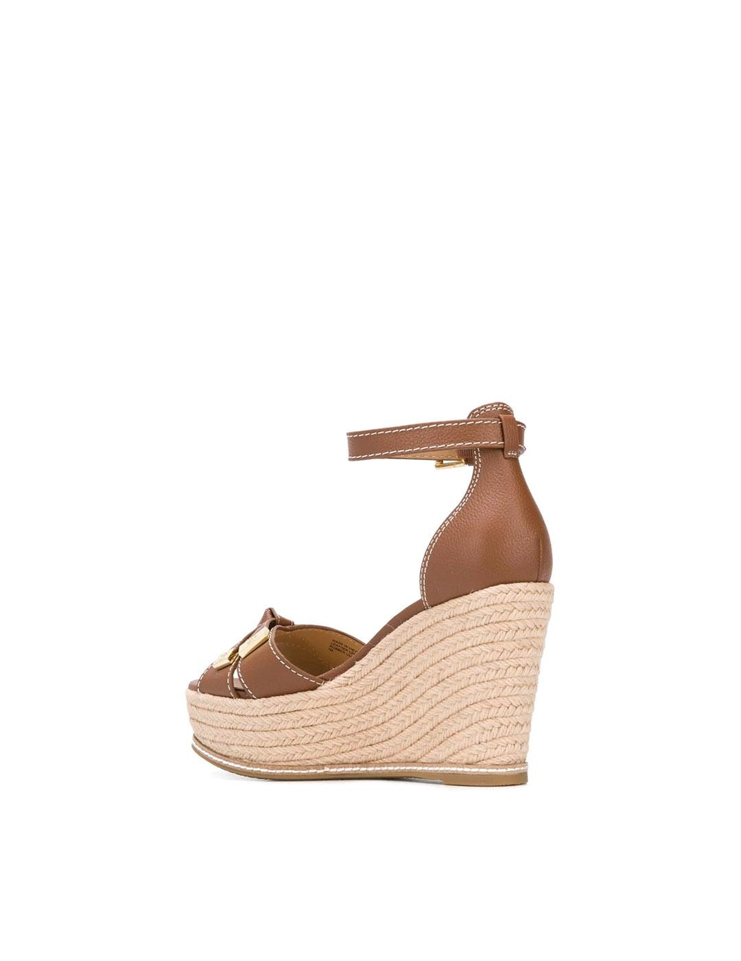 Sandalias Michael Kors marrón Ripley Wedge Luggage