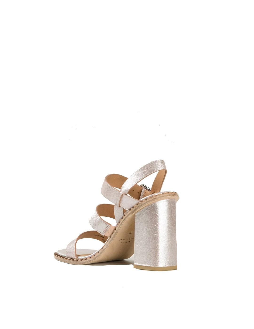 Sandalias Marc by Marc Jacobs plata Mix it Metallic Crosta