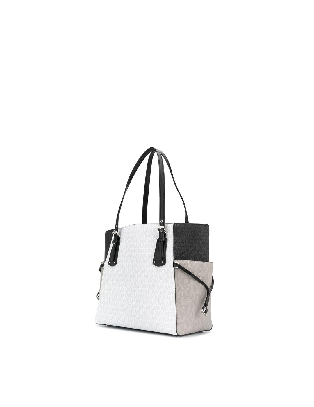 Bolso Michael Kors gris y negro Voyager colour-block Tote