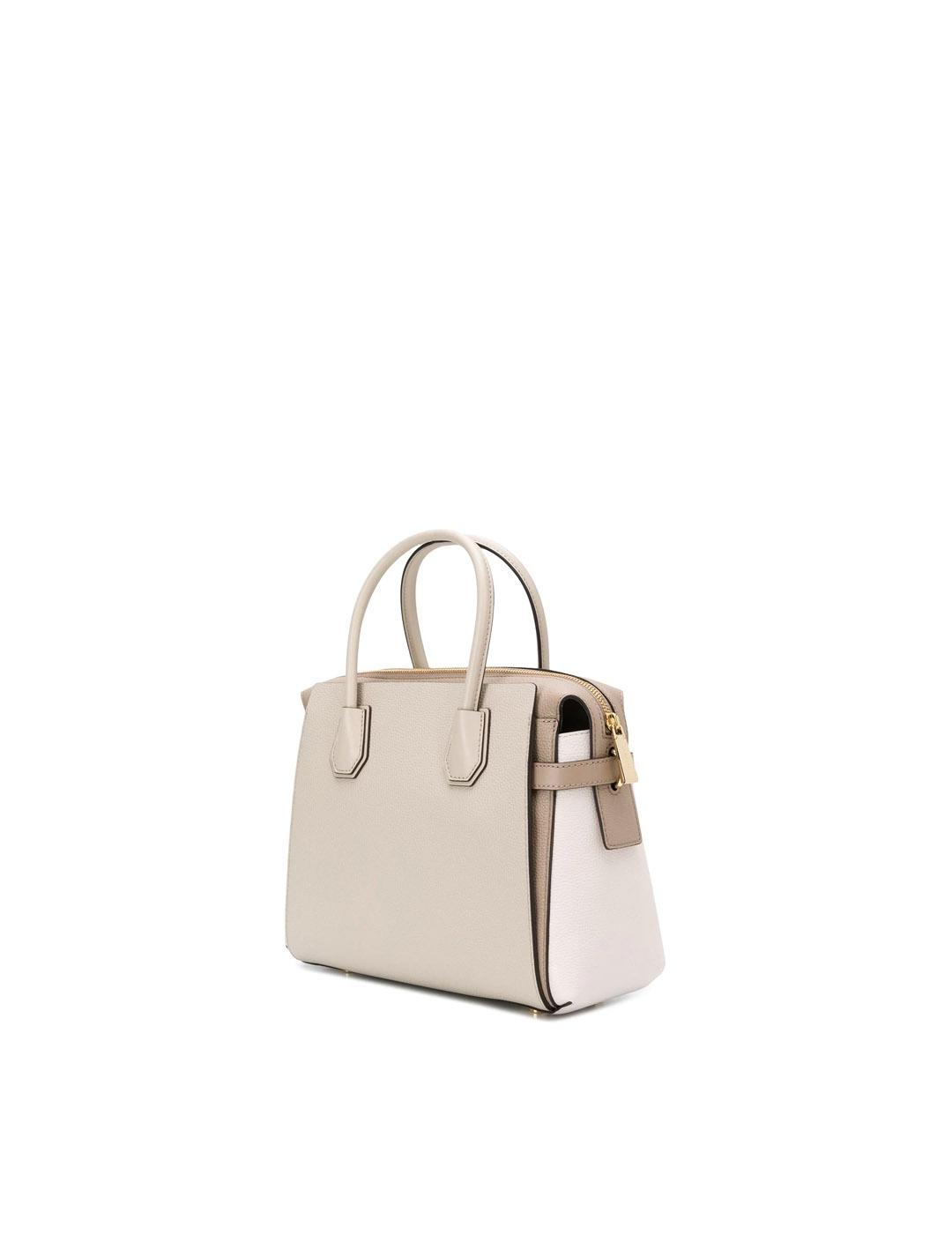 Bolso Michael Kors camel Mercer Medium Tricolor Pebbled