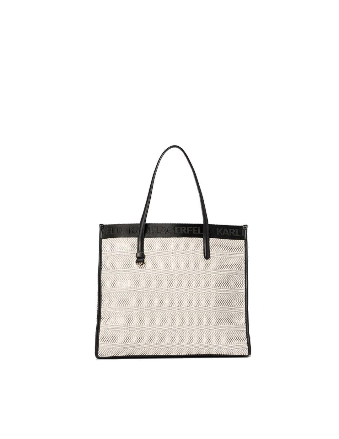 Bolso Karl Lagerfeld blanco K/Skuare Black and White Tote