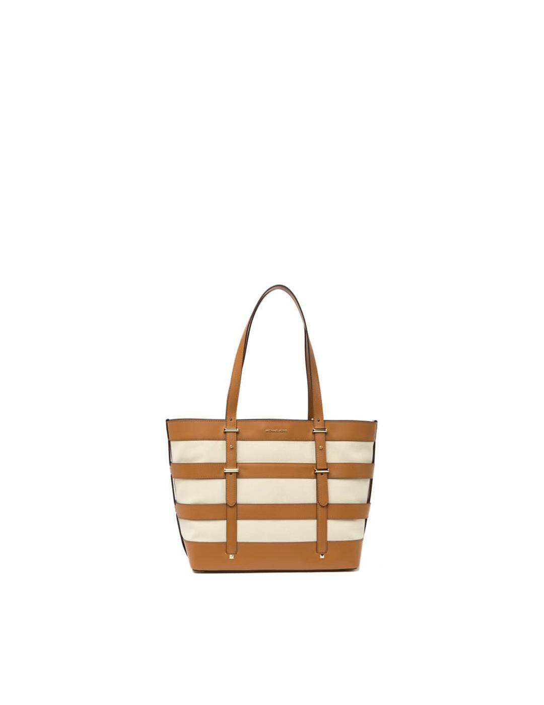 Bolso Michael Kors camel Marie Large Cage Tote