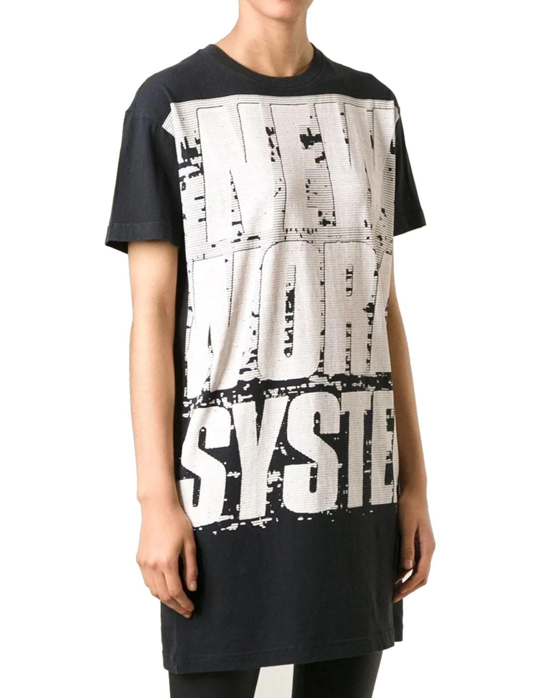 Camiseta Marc by Marc Jacobs negra New World System Dress