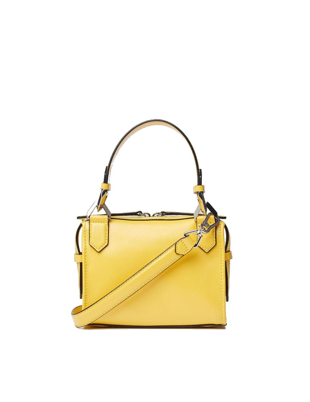 Bolso Karl Lagerfeld amarillo K/Slash Small Top Handle