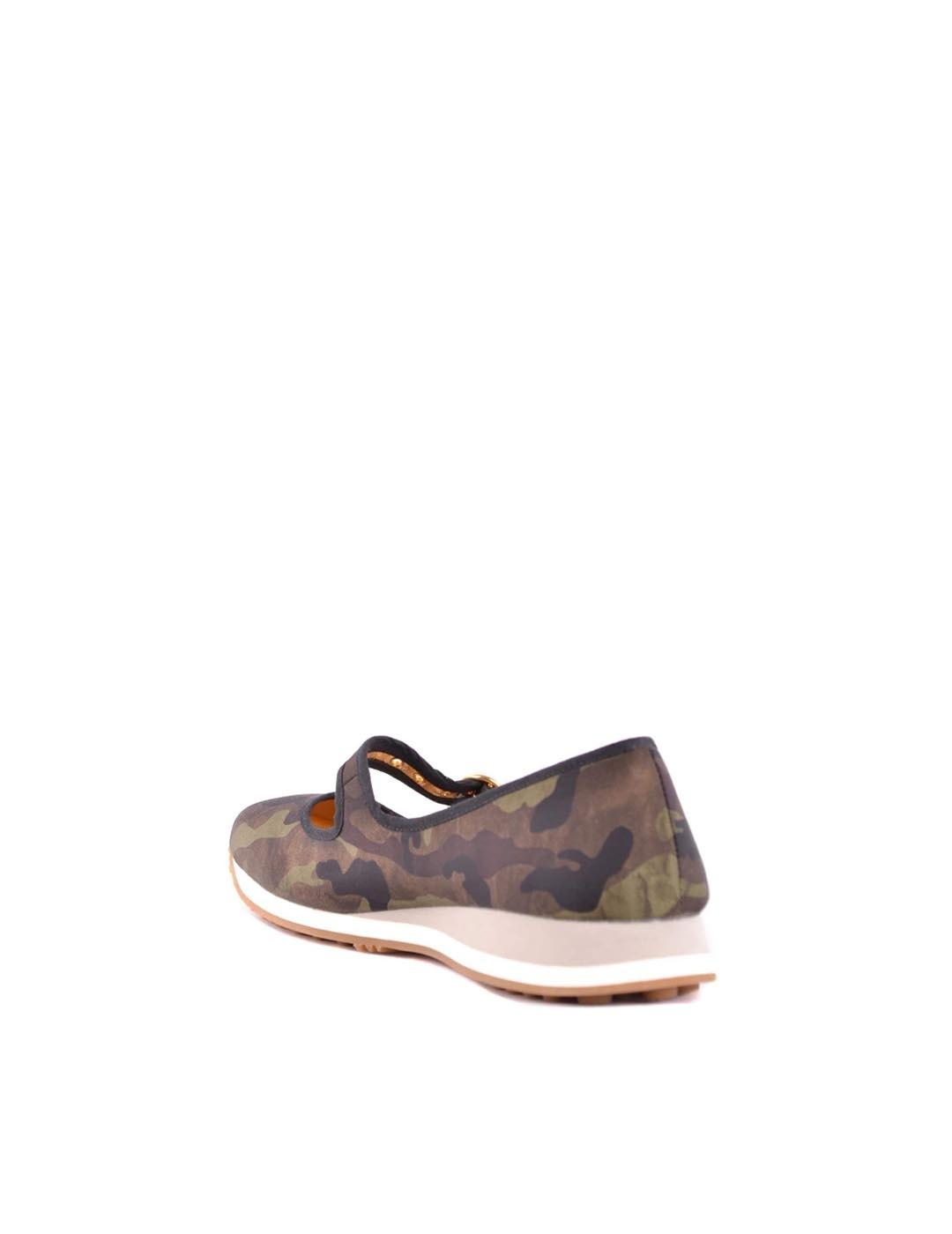 Zapatos Car Shoe verde marrón Camuflaje Mimético