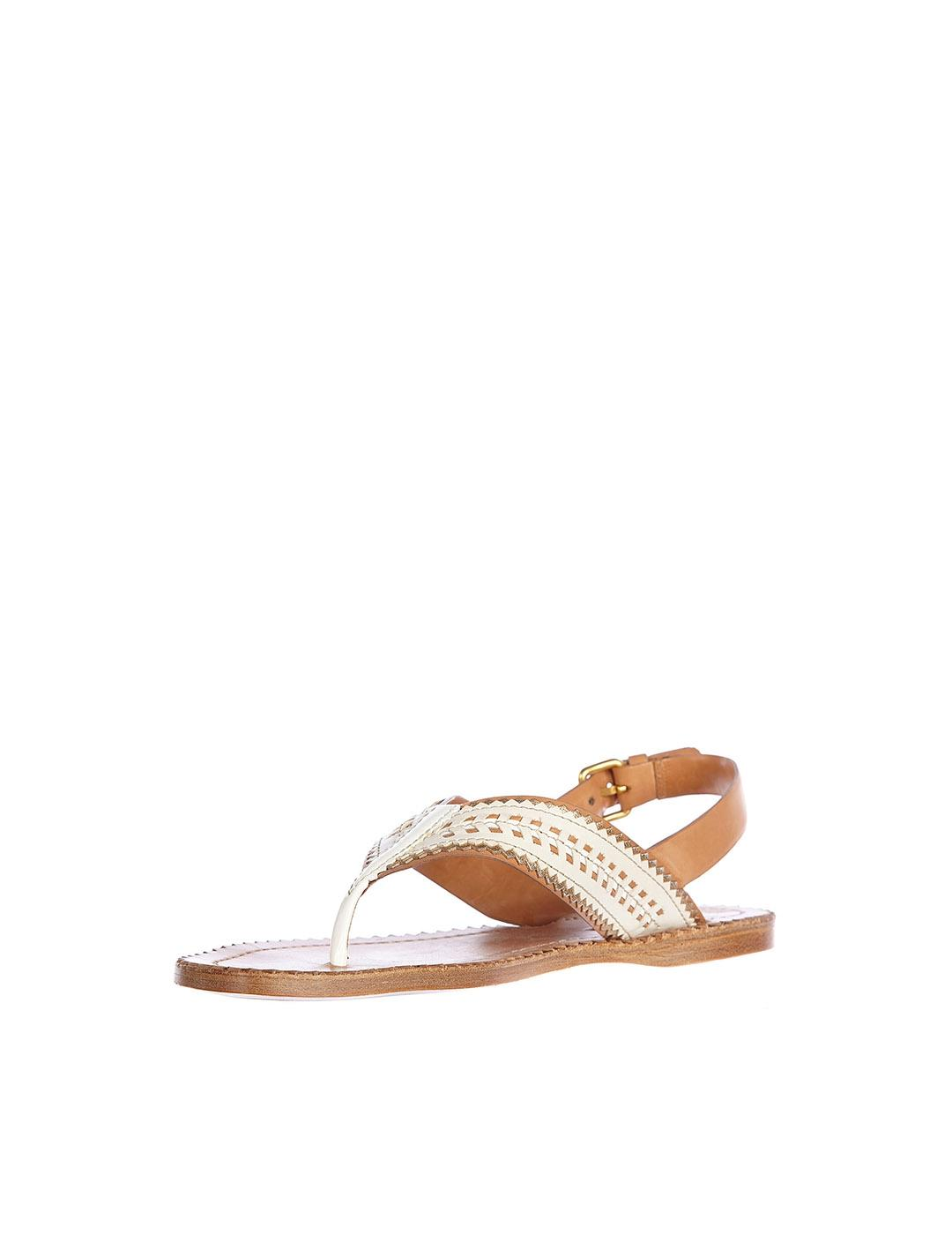Sandalias Car Shoe beige Natural Verni