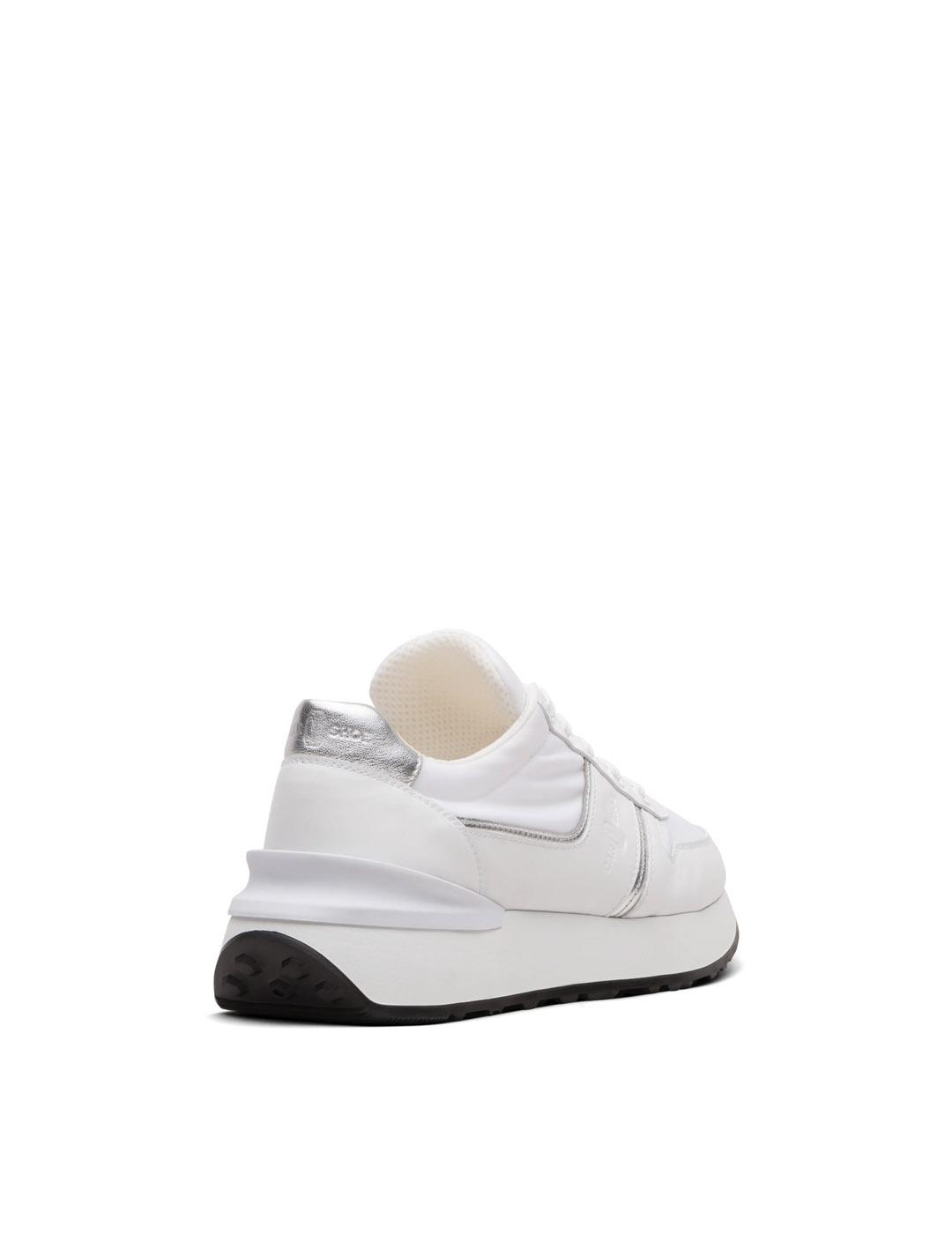 Sneaker Car shoe blancas Calzature Donna Calf and Nylon