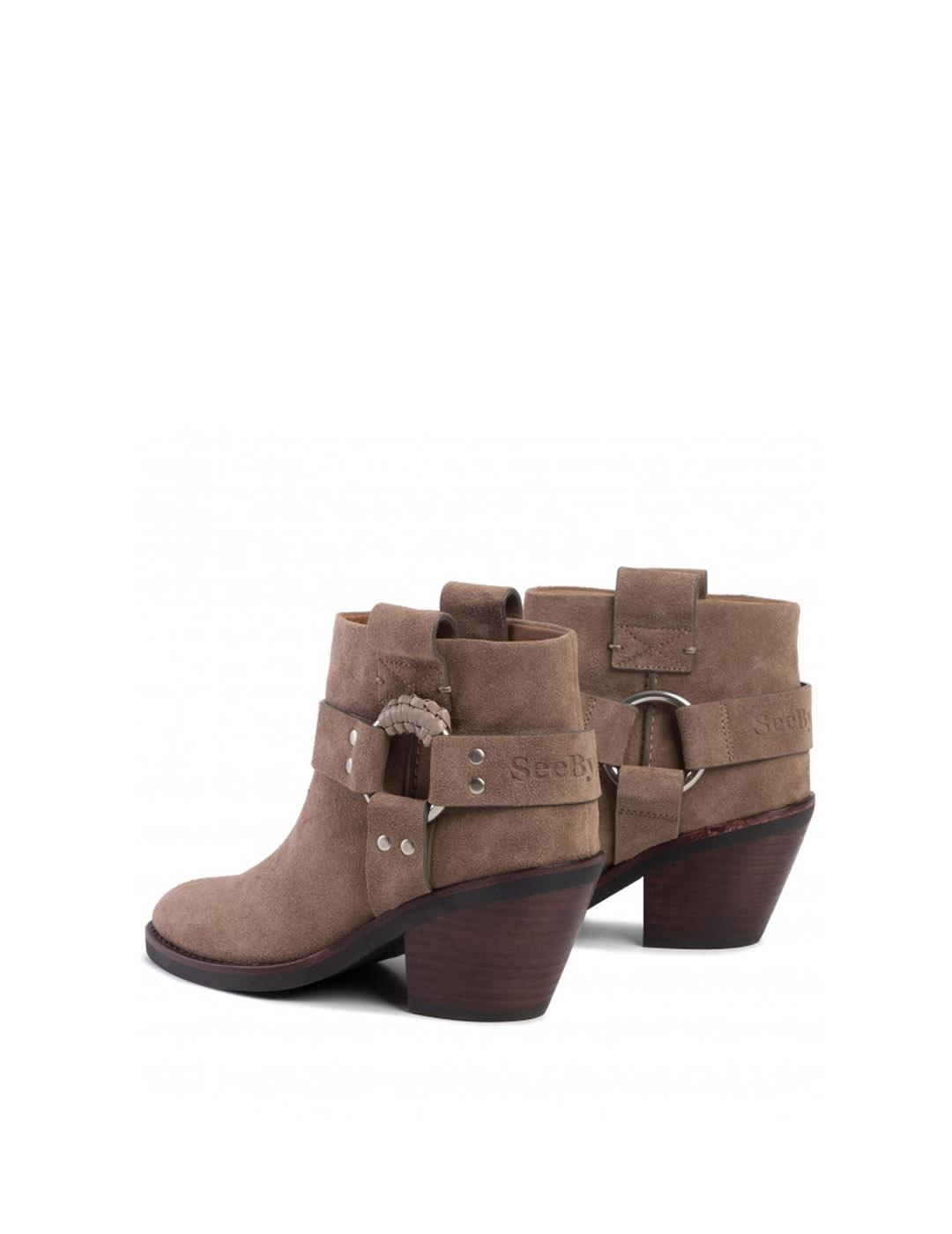 Botines See  by Chloé beige de ante Crosta Taupe