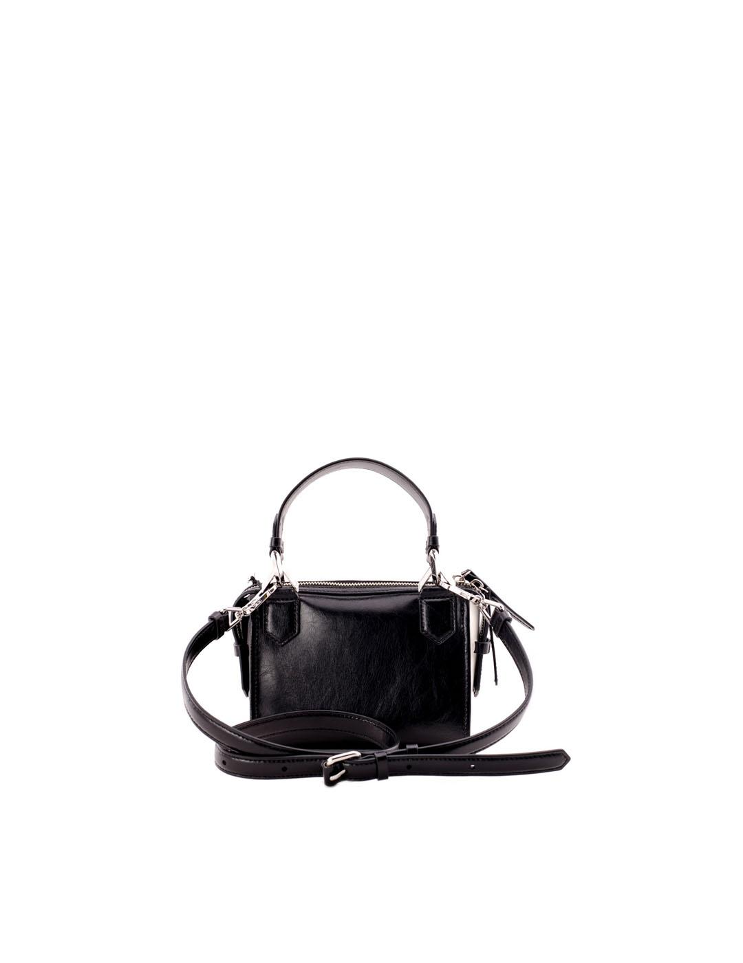 Bolso Karl Lagerfeld negro k/Slash small Top Handle